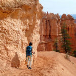 Walking Peekaboo Loop in Bryce Canyon National Park in USA