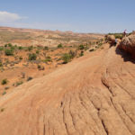 End of the hike to the Dry Fork of of Coyote Gulch in Grand Staircase Escalante National Monument in Utah USA