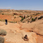 The top of the ravine coming from the Dry Fork of of Coyote Gulch in Grand Staircase Escalante National Monument in Utah USA