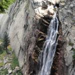 Close View of Illilouette Fall from Panorama Trail Yosemite NP California USA
