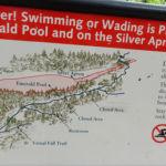 Danger swimming in Emerald Pool near Vernal Fall Yosemite NP CA USA