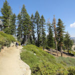 First section of Panorama Trail below Glacier Point Yosemite NP California USA