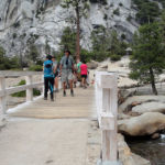 Footbridge at the Top of Nevada Fall Yosemite NP CA USA