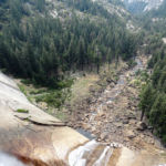 From the Top of Nevada Fall looking to the Valley Yosemite NP CA USA