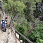 Going down the Mist Trail from the Top of Vernal Fall Yosemite NP CA USA