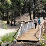 Illilouette Creek Foot Bridge Panorama Trail Yosemite NP California USA