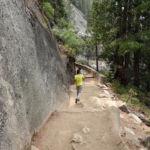 John Muir Trail near Top of Nevada Fall Yosemite NP CA USA