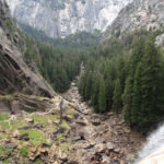 Looking to the valley from the Top of Vernal Fall Yosemite NP CA USA