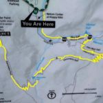 Map of Panorama Trail from Glacier Point to Yosemite Valley CA USA