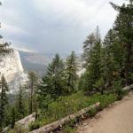 Panorama Trail going down to Nevada Fall Yosemite NP California USA