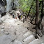 Stairs on Mist Trail below Vernal Fall Yosemite NP CA USA